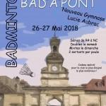 Affiche Pontarlier Badminton tournoi